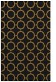 rug #465565 |  mid-brown circles rug