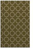 rug #465569 |  brown circles rug