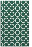 rug #465581 |  green circles rug