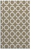 rug #465589 |  mid-brown circles rug