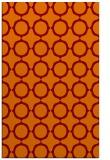 rug #465637 |  red-orange circles rug