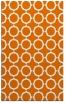 rug #465641 |  orange circles rug