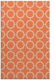 rug #465645 |  orange circles rug