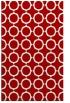 rug #465689 |  red circles rug