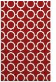rug #465697 |  red circles rug