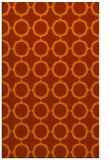 rug #465705 |  red-orange circles rug