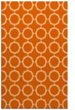rug #465709 |  red-orange circles rug