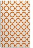 rug #465717 |  red-orange circles rug