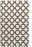 rug #465745 |  brown circles rug