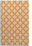 rug #465765 |  orange circles rug