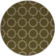 rug #465921 | round mid-brown circles rug