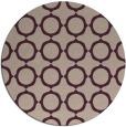 rug #465957 | round pink rug