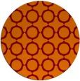 rug #465989 | round red-orange rug