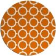 rug #465993 | round orange rug