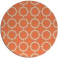 rug #465997 | round orange circles rug