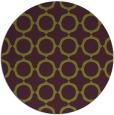 rug #466029 | round green circles rug
