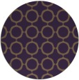 rug #466033 | round purple circles rug