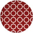 rug #466049 | round red rug