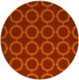 rug #466057   round red-orange circles rug