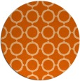 rug #466061 | round red-orange circles rug