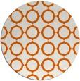 rug #466069 | round red-orange circles rug