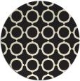 rug #466109   round black circles rug