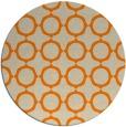 rug #466117 | round orange circles rug