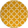 rug #466137 | round light-orange circles rug