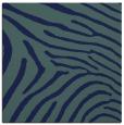 rug #471817   square blue-green animal rug