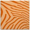 rug #472045 | square red-orange stripes rug