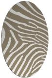 rug #472137 | oval white stripes rug