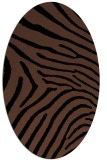 rug #472153 | oval brown stripes rug