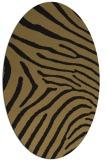 rug #472157 | oval black stripes rug