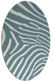 rug #472161 | oval white stripes rug