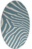rug #472161 | oval white animal rug
