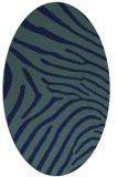 rug #472169 | oval blue animal rug