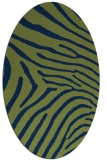 rug #472173 | oval blue animal rug
