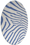 rug #472177 | oval blue animal rug
