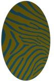 rug #472197   oval green animal rug
