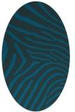 rug #472217 | oval blue animal rug
