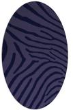 rug #472221 | oval blue-violet animal rug