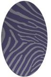 rug #472225 | oval blue-violet stripes rug
