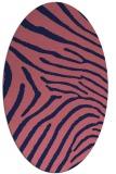 rug #472229 | oval pink animal rug