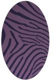 rug #472233 | oval purple stripes rug