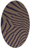 rug #472245 | oval beige animal rug