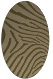 rug #472257 | oval brown stripes rug