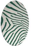rug #472269   oval green animal rug
