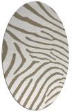 rug #472277 | oval white stripes rug