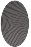 rug #472285 | oval brown stripes rug