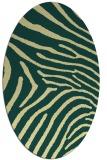 rug #472341 | oval yellow stripes rug